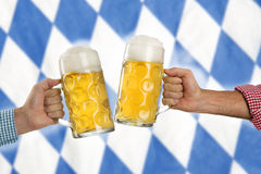 Cheers at the Oktoberfest Royalty Free Stock Photo