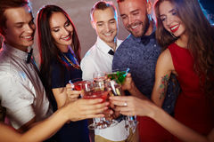 Cheers at party Stock Photos