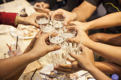 Cheers. Party People Cheers In Bangkok royalty free stock photography