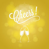 Cheers Party Sign Champagne Design Background. Cheers New Year Party Sign Champagne Design Background 10 eps Stock Images