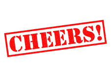 CHEERS! Rubber Stamp. CHEERS! red Rubber Stamp over a white background Stock Images