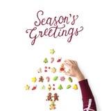 Cheers Seasons Greeting New Year 2017. Seasons Greeting New Year Icon Royalty Free Stock Photography