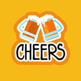 Cheers Sticker Social Media Network Message Badges Design Royalty Free Stock Photo