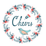 Cheers stylish concept card Stock Photography