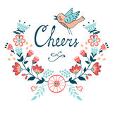 Cheers stylish concept card Stock Image