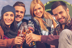 Cheers to friends! Royalty Free Stock Photography