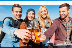 Cheers to friends! Stock Photo