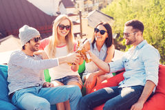 Cheers to friends! Stock Photos