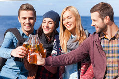 Cheers to friendship! Royalty Free Stock Images