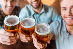 Cheers to success! Stock Photography