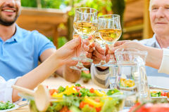 Cheers to us! Royalty Free Stock Photo