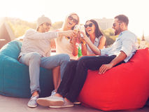 Cheers to us! Stock Photography