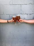 Cheers to the weekend royalty free stock photo