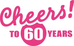 Cheers to 60 years - 60th birthday. Vector icon Royalty Free Stock Photos