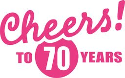 Cheers to 70 years - 70th birthday. Vector icon Royalty Free Stock Image
