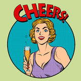Cheers toast celebration woman Stock Photo