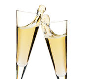 Cheers! Two champagne glasses Royalty Free Stock Photos
