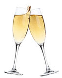 Cheers! Two Champagne Glasses Stock Photos