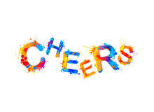 Cheers! Vector splash paint Royalty Free Stock Photos