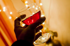 Cheers with wine Stock Image