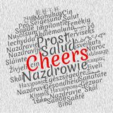 Cheers word cloud concept stock illustration