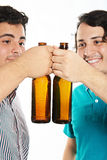 Cheersing two young man Royalty Free Stock Image