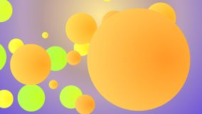 Cheery backdrop from spinning squares. An amazing 3d illustration of twirling big and small squares of yellow, salad, and light brown colors entertaining vector illustration