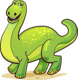 Happy Green Cartoon Dinosaur Royalty Free Stock Photo