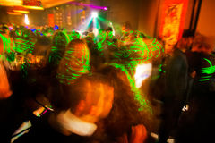Cheery party. Motion blur. Royalty Free Stock Photo