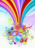 Cheery rainbow design Royalty Free Stock Images