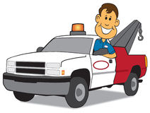 Service Man and Tow Truck Royalty Free Stock Image