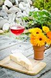 Chees e fiori fotografia stock libera da diritti
