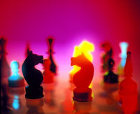 Chees figure. Two chess figures facing each other Royalty Free Stock Images