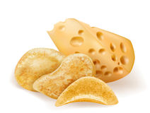 Chees and potatos chips Stock Images