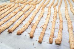 Chees stick cookies Royalty Free Stock Image