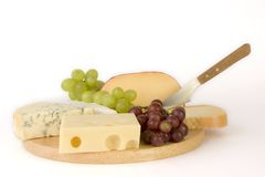 Cheesboard selection Royalty Free Stock Photography