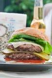 cheesburger Fotografia Stock