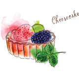 Cheescake stock illustrationer