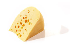 Cheese. Foodstuff: Edam cheese over white background Royalty Free Stock Images