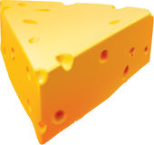 Cheese. 3D illustration of a slice of cheese Royalty Free Stock Photos