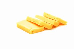 Cheese. Photo of the cheese on white background royalty free stock images
