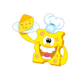 Cheese. Vector illustration. The character in the form of cheese Royalty Free Stock Images