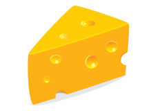 Cheese. Vector illustration of tasty cheese on white background Royalty Free Stock Photos