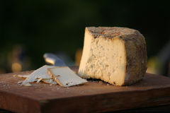 Cheese. Platter at a dairy farm Royalty Free Stock Image