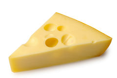 Cheese. On a white background Royalty Free Stock Photos