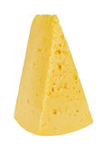 Cheese. Piece of fresh cheese isolated on white background stock photos