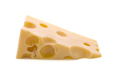 Cheese. Piece of Cheese isolated on white Stock Image