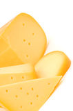 Cheese. On a white background Royalty Free Stock Images