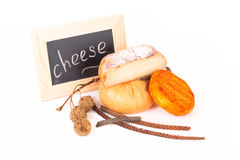 Cheese allsorts and various bumps on a light background. Shallow Stock Photos