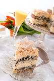 Cheese almond cake. A tasty cheese almond cake stock images